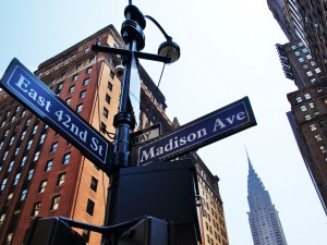 Madison Avenue Sign NYC