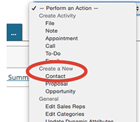 Quickly Add Contacts to a Company