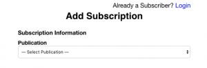 Subscription WebForm