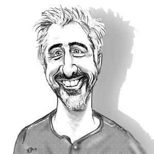 Tom Bellen Caricature Large