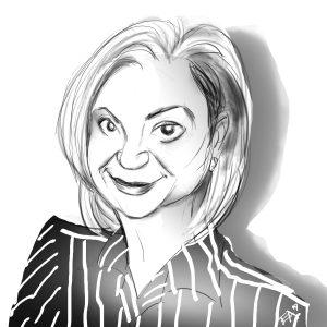 Large Karen Richter Caricature